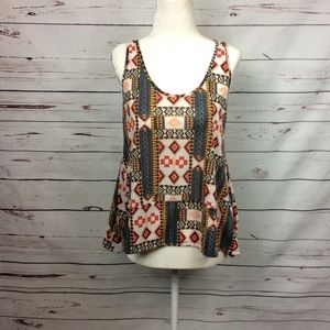 [H&M Conscious] Festival Style Geo Print Crop Tank, used for sale